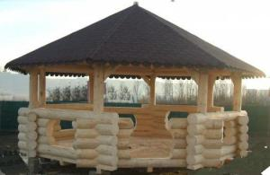 Pavilioane lemn masiv rotund