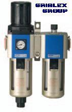 Filtru regulator cu ungator pentru instalatiile pneumatice FR+L1/4