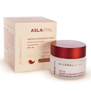 Aslavital Mineralactiv Crema Ultraprotectoare SPF50  *50 ml