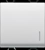 Intrerupator cu revenire, 2m, 16a, iluminabil, gewiss chorus white