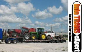 Transport franta tractor