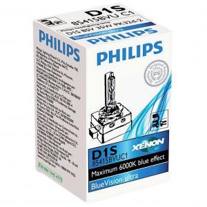 Philips Xenon D1S Blue Vision Ultra 35W 85V PK32d-3 - Bec Auto Xenon Far
