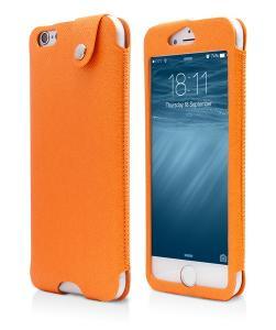 Husa Protectie Vetter Smart Window Slim Case, Apple Iphone 6, Orange
