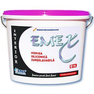Vopsea Lavabila Siliconica Interior EMEX / Bidon 15 L - Alb
