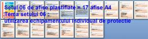 Set 6 afise tematice SSM – Cerinte minime SSM privind dotarea si exploatarea echipamentelor individuale de protectie  de la orice angajator public sau privat
