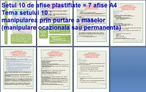 Set 10 afise tematice SSM – Cerinte minime SSM privind manipularea maselor in procesul muncii