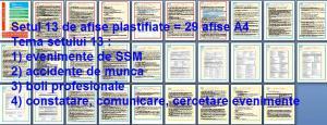 Set 13 afise tematice SSM – Cerinte minime SSM privind cercetarea evenimentelor SSM . Accidente de munca si boli profesionale