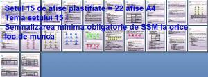 Set 15 afise tematice SSM – Cerinte minime SSM privind semnalizarea de SSM la locurile de munca