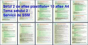 Set 2 afise tematice SSM – Cerinte minime SSM privind modalitatile de realizare a activitatilor de prevenire si protectie din domeniul SSM