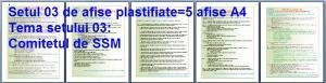 Set 3 afise tematice SSM – Cerinte minime SSM privind comitetul de Securitate si Sanatate in Munca. Procedura de constituire a CSSM. Numirea membrilor CSSM. Obligatii si raspunderi ale membrilor CSSM .