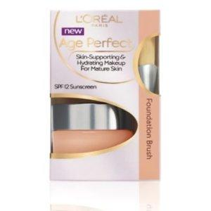 Fond de ten cu pensula L'oreal Age Perfect  30ml - 706 Natural Buff