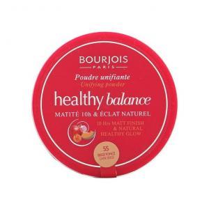 Pudra Bourjois Healthy Balance Pressed Powder 9g - 55 Dark Beige