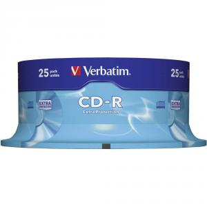 CD-R Verbatim DATALIFE 52X 700MB 25PK Spindle Extra Protection