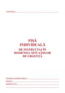 Fisa de instruire individuala privind securitatea si sanatatea in munca, carnet 10 file, 25 bucati/set