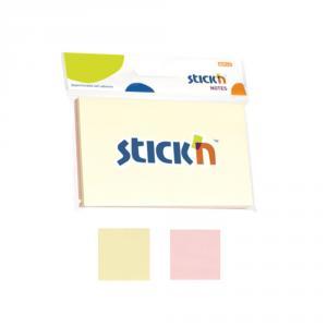 "Notes autoadeziv 76 x 127 mm, 2 x 50 file/set, Stick""n - 2 culori pastel"