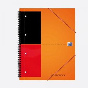 Caiet cu spirala A5 , OXFORD International Meetingbook, 80 file-80g/mp, 10 perf., coperta PP - dictando