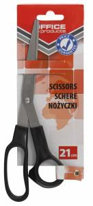 Foarfeca otel, 21cm, Office Products - maner negru