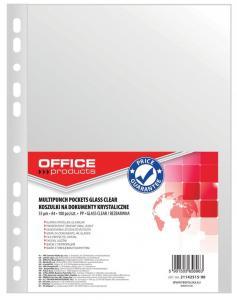Folie protectie pentru documente A4, 55 microni, 100folii/set, Office Products - cristal