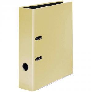 Biblioraft Falken Pastel, carton laminat, A4, 80 mm, galben vanilie