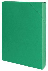 Mapa din carton presat cretat, cu elastic, latime 40mm, 450gsm, Office Products - verde