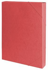 Mapa din carton presat cretat, cu elastic, latime 40mm, 450gsm, Office Products - rosu