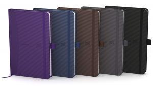 Caiet cu elastic, 9x14cm, OXFORD, coperta carton rigid, 80 file-90g/mp, mate - culori clasice