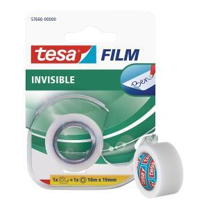 Banda adeziva cu dispenser, Tesa Film Invisible, 10 m x 19 mm