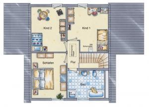 Casa din caramida.Casa cu sera 118 - etaj