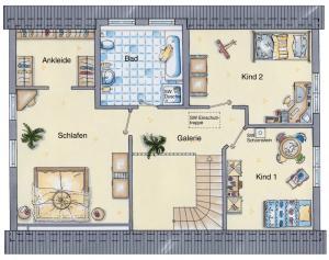 Casa din caramida.Landhaus 142 - etaj