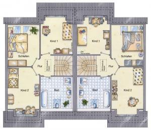 Casa din caramida.Duplex 111 - etaj