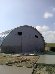 Hala autoportanta - semirotunda - hangar utilaje