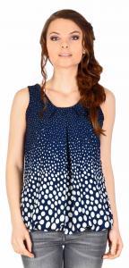 Bluza casual bleumarin cu buline si funda spate 14105BM