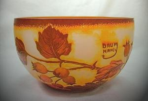 Daum nancy glass small bowl briar fruits