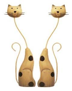 Set pisicute din lemn
