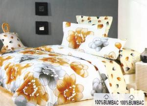 Lenjerie de pat din bumbac, model imprimat