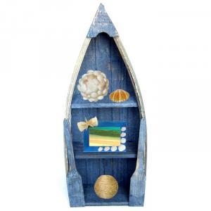 Barca decorativa cu rafturi-obiect de decor