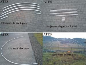 Arc policentric asamblat pentru solar tip tunel fara tirant de palisare - cod.ATES-ARC 8-5L2-FT