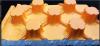 Placa cu nuturi 20/25 portocalie,