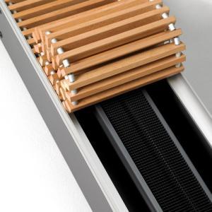 Grila flexibila din fag, 240x1750 mm, fara plinta, pentru convectorul Aquilo, Purmo PMO