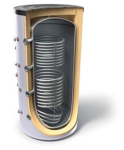Puffer cu 2 serpentine, 1928 litri, 3 bar, Tesy V 15/9S2 2000 130 F46 P6 C