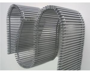 Grila flexibila din aluminiu, 180x1000 mm, fara plinta, pentru convectorul Aquilo, Purmo PMO