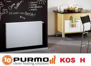 Radiator decorativ orizontal, alb, tip 21, L=900 x H=600, Purmo Kos H