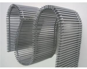 Grila flexibila din aluminiu, 180x1750 mm, fara plinta, pentru convectorul Aquilo, Purmo PMO