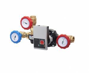 Grup de pompare termostatic pt. cazane combustibil solid max 40 kW DN 25