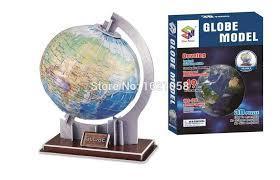 Glob pamantesc, model 3D, puzzle