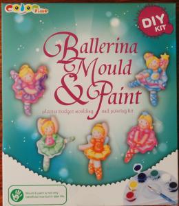 Balerina, pictura ceramica
