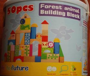 Cuburi din lemn pentru constructii, 50 piese