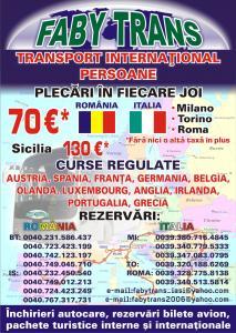 Transport romania milano persoane